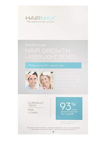 Hairmax 12 Pro caixa frente